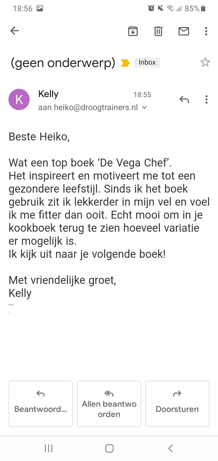 Vega chef review kelly